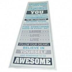 6X (Legyen félelmetes, inspiráló motivációs boldogság idézetek Dekoratív poszter T9Z8