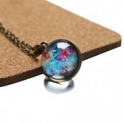 Kozmikus kétoldalas üveggömb nyakláncban Drágakő hold medál nyaklánc K6X4