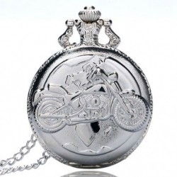 Nagy finom láncú ezüst zsebóra Stílusos és gyönyörű személyiségű moto G1Y8