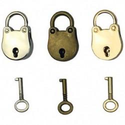 2X (3db-os keverék színes antik stílusú archaizált lakatok kulcstartóval az L2E8 kulccsal