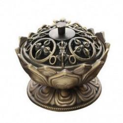 2X (Buddha füstölő égő lótuszvirág füstölő tartó kézzel készített cenzúra Bu J7D8-hoz