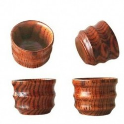2X (4 db-os kínai fa apró teáscsészék egyedi mini bögrék a teáskanna-készlethez - J7J9