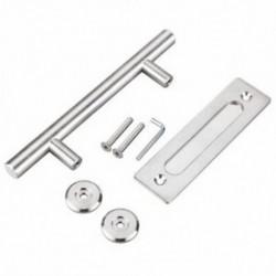 1X (304 rozsdamentes acél csúszó pajta ajtóhúzó fogantyú faajtó fogantyú ajtó O3L4)