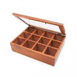 2X (fa többfunkciós tárolódoboz, klasszikus faasztali szervező 12 S9P9)