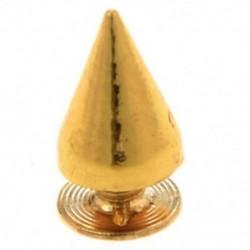 2X (100 kúpcsavarral arany szegecsek laza 10MM DIY B1M1)