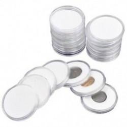 1X (60 db 46 mm-es érmetartók, kapszulatartó, átlátszó műanyag, kerek Stora C8X9)
