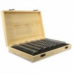 100 db / doboz fa érme bemutató tárolódobozok, kerek dobozos tartó háztartási tároló X0X0