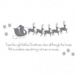 Szán 5 kis szarvas hópelyhek &quot Twas the Night Christmas Christmas&quot  angol W Q1G4