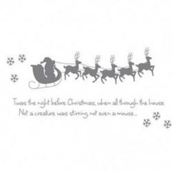 2X (Szán 5 kis szarvas hópelyhek &quot Karácsony előtti éjszaka&quot  englis E4W0