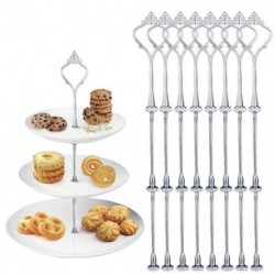 8X (8 sorozat közepes lyukú evőeszközök többrétegű, 2-3 emeletes esküvői ca U3F1