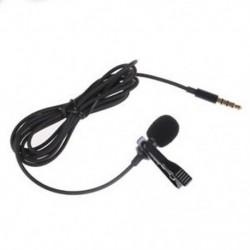 Lavalier Lapel Clip-on egyirányú mikrofon TRRS 3,5 mm-es Jack Handsfree U2B8 mikrofon