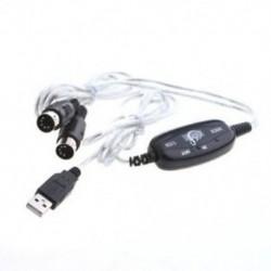 A 2M USB MIDI kábel-konvertáló PC-ből zenei billentyűzet-adapterhez támogatja a Windows X J2I0-t