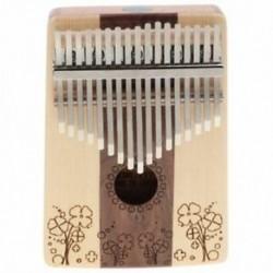 Kalimba 17 kulcsfontosságú hüvelykujj-zongora ujj ütőhangszer gyerekeknek - zenei ajándék - I5M4