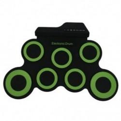 1X (hordozható elektronikus dob, digitális USB 7 párna, tekercselhető dobkészlet, szilikon El V5N2