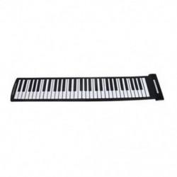 Hordozható 61 kulcsos, rugalmas, összeszerelhető zongora USB MIDI elektronikus billentyűzet kéz R H2C5