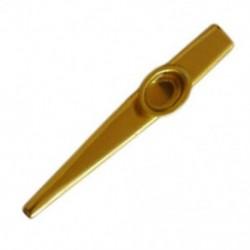 Fém arany Kazoo  2 membrán furulya hangszer G9F4