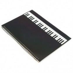 50 oldalas zongora Kéziratos papír, Jegyzetfüzet, spirálkötésű O6G5