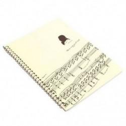 1X (50 oldalas Mozart kottai kéziratos papírlapú jegyzetfüzet S D7G0
