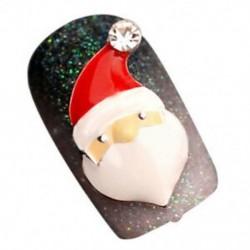 10db-os 3D karácsonyi dizájn ötvözet ékszerek köröm művészeti tippek DIY dekorációk 01 * N7F2