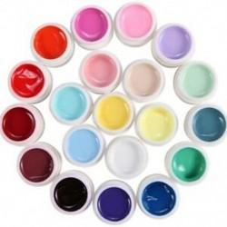 1X (20 színű tétel Gel UV tartományú turmix PR hamis körömcsillag manikűr K9O5)