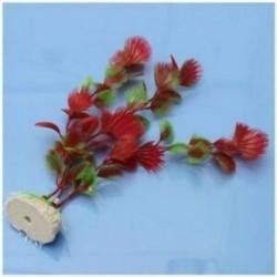Piros műanyag páfrány növények vízi akvárium tereprendezés akvárium dísz dekoráció W1M2