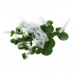 Akvárium mesterséges békalencse úszó műanyag zöldfehérje növény X1V5
