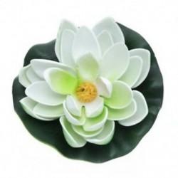 2X (Mesterséges növényi lótusz dekoráció az Akvárium EVA műanyag fehér színű U7I2-hez)