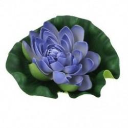 1X (6,7 hüvelykes Dia Indigo kék, zöld úszó, lótuszhabvirág-dekoráció halra Ta F5D2