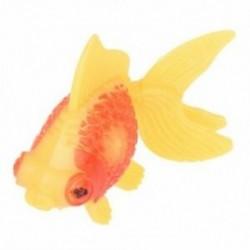 Akvárium haltartály műanyag úszás aranyhal dekoráció sárga piros 3 darab C7C8