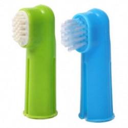 Orális fogkefe készlet   masszázs ujjkefe ápoló fogkrém S0P2 kutya kölyökkutyához