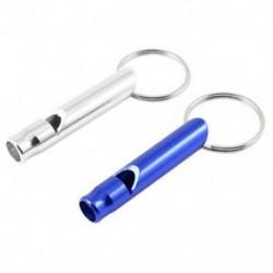 1X (2 db. Zsebek, biztonsági kutya kiképző hang síp ezüst, kék U5Z8)