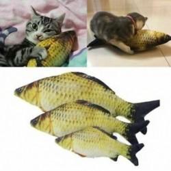 Kedvtelésből tartott macska játékok aranyos hal alakú rágó játék-szimuláció kitöltött hal Catni V3N2-vel
