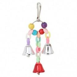 1X (papagáj madárjátékok, fém gyűrűs csengő, függő ketrec játékok a papagáj mókushoz P M4H3