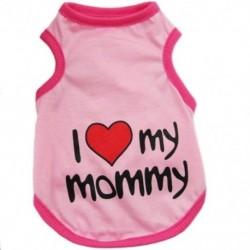 1X (divatos ruházati szerelmes mellény pólóval kölyökkutya-macska rózsaszínű L C9E7)