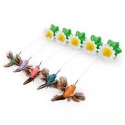 P6U2 macska kisállat játékok elektromos forgó színes madár vicces acélhuzal macskák teaser p