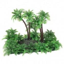 3,9 hüvelykes magasságú kókuszdió-pálma növény az akvárium haltartályához zöld D6D3