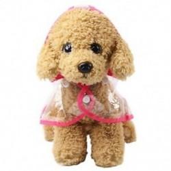 1X (átlátszó kisállat kutya esőkabát Pvc vízálló esőkabát kisállat kölyökkutya esőkabát Z1Z9