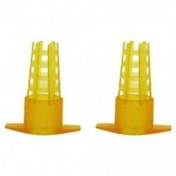 2X (30 db méhészeti eszköz sárga műanyag méhkirálynő ketrec védőborítója F7Q4