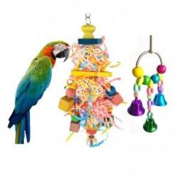 Madárrágó játék - Tarka lógó takarmányozó játék és csengő madárjáték a V0E6-hoz