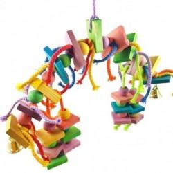 Madárcsomók Blokkoló rágó játékok-papagáj játékok Madár játékok (nagy madaraknak ara papagáj Z6L8)