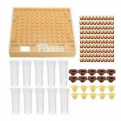 Méhészeti kupakészlet 100 sejtpohár Méhecske szerszámkészlet Queen Beadási rendszer Bee Comp N7W4