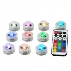 12 db-os fürdőkád lámpa, mini kültéri Rgb merülő LED fény, többszínű, T0U3 alatt