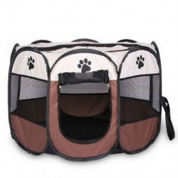 Hordozható összecsukható házi kedvenc sátor Kutyaház ketrec Kutya macska sátor Playpen kölyök kennel F4G6