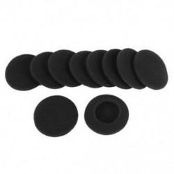 10 szivacs védőintézkedés puha fekete fülvédő párna fejhallgatóhoz 5 C1O7