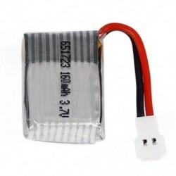 1 db 3,7V 160mah 20C lipo akkumulátor, 651723 modell, FPV RC Molex 51005 Z R8V4 típushoz