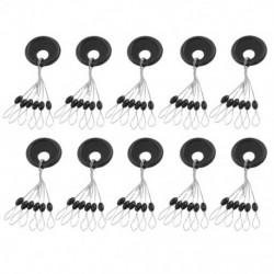 2X (10 darab 6 az 1-ben L méretű, fekete gumi ovális dugóval horgászó bob úszó L8Q8)