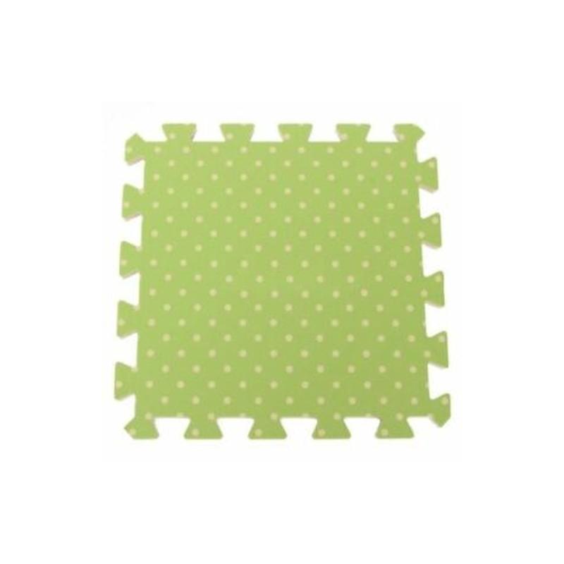 Zöld pontok 9PCS gyerekbiztonsági szőnyeg EVA habpadló