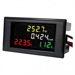 AC 80-300 V-os LCD digitális voltmérő ampermérő voltmérő voltos teljesítmény teljesítmény Kwh panelen mérő 100 B7O7