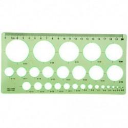 Zöld műanyag hallgatók téglalap alakú rajz kör sablon vonalzó CT T3V V3F2