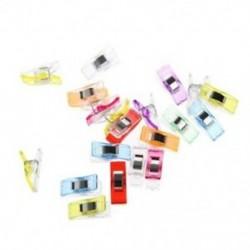 20 db műanyag klipekkel varrásos paplan klipszerszám Élelmiszertáska klip színe Ran B1O5
